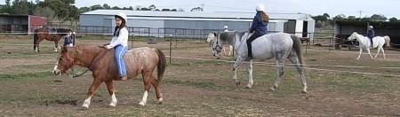 bareback, 1 rein riding