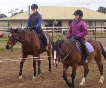 both these girls had never ridden